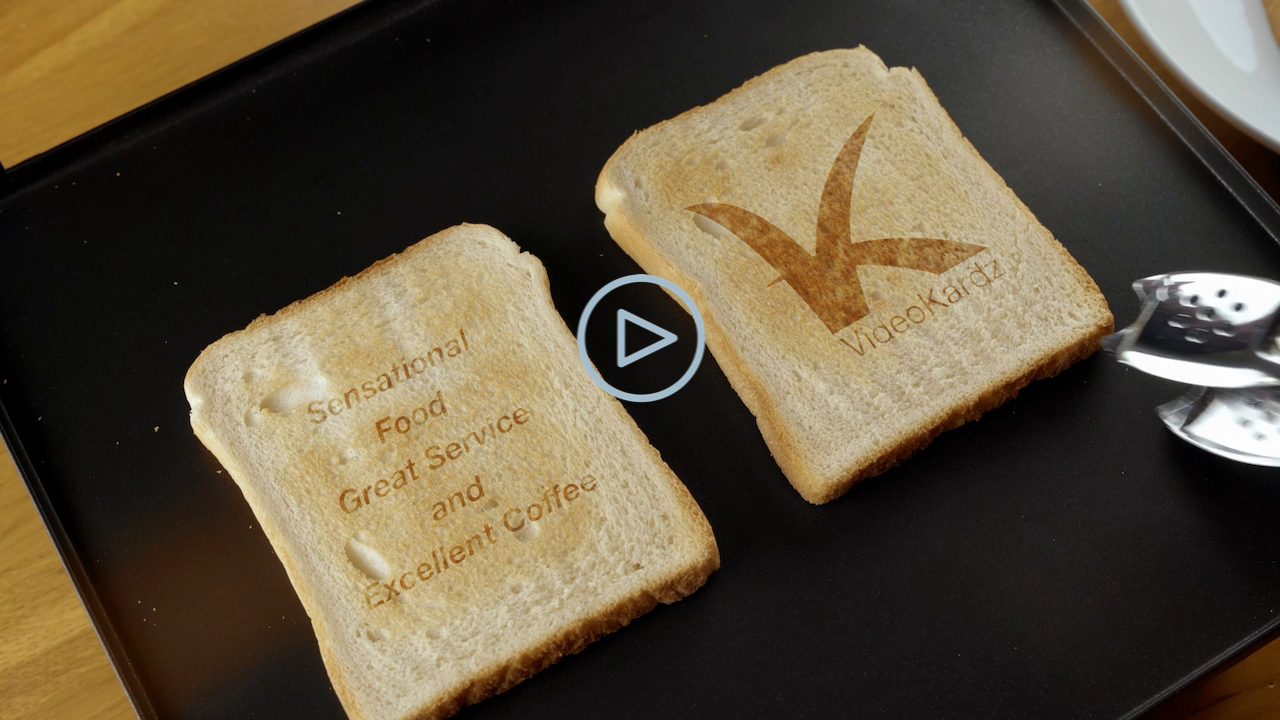 Double Toast with Plate