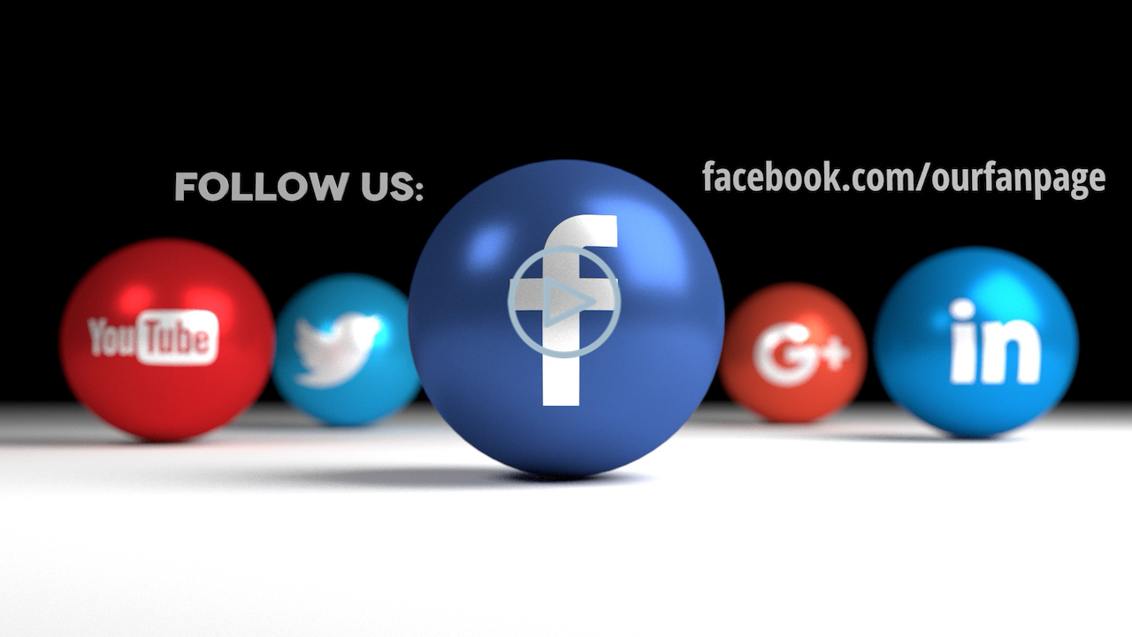 Social Icons Balls - Facebook Black